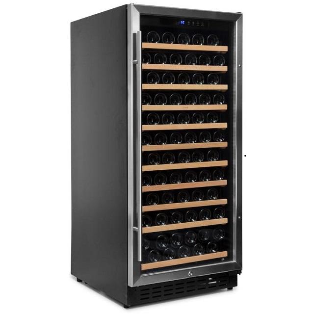 Armario climatizado para vinos Vinobox 110GC 1T inox - de lado