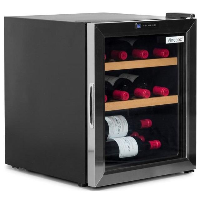 Nevera para vinos económica - Vinobox 12GC de lado