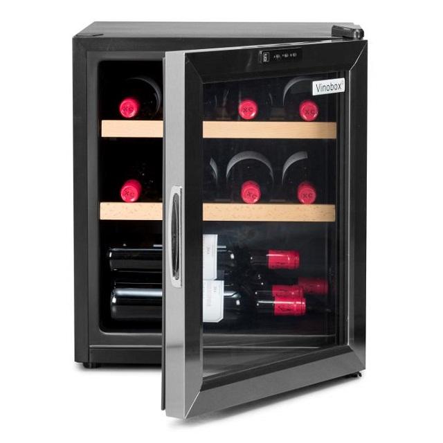 Nevera para vinos económica - Vinobox 12GC puerta abierta de frente