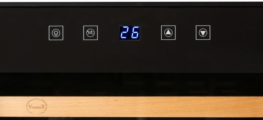 Vinotecas económicas - Vinobox Pro - pantalla digital