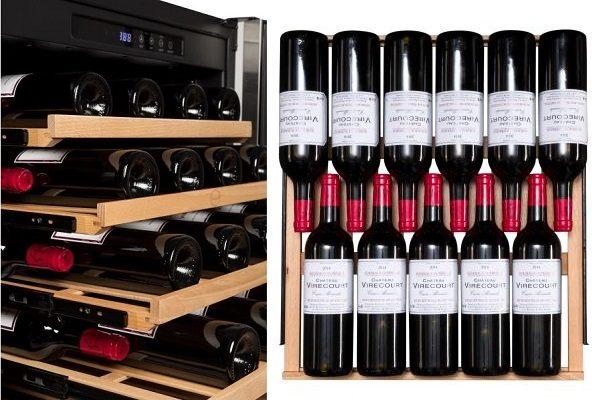 Vinotecas encastrables o de libre instalación – disposición en bandejas