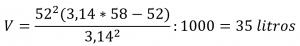 Cálculo de cuantos litros tiene una bolsa de basura ejemplo bolsa 52x58
