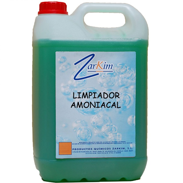 Limpiador amoniacal biodegradable multiusos