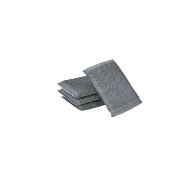 Estropajo de acero inoxidable con esponja - paquete de 6ud
