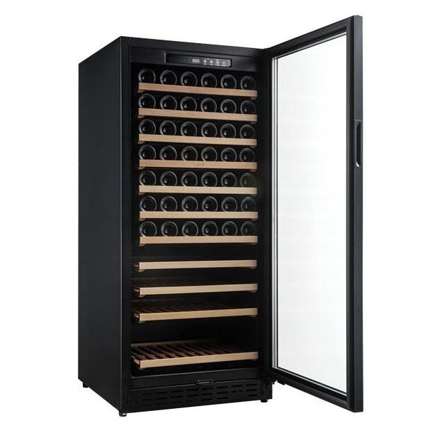 Armario climatizado para vinos Vinobox 110GC 1T color negro - puerta abierta