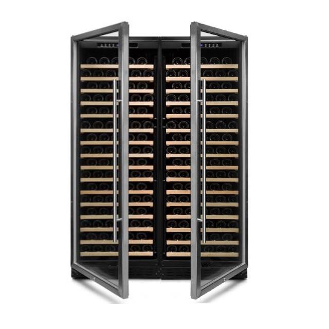 Armario climatizado para vinos Vinobox 168GC 1T inox - doble