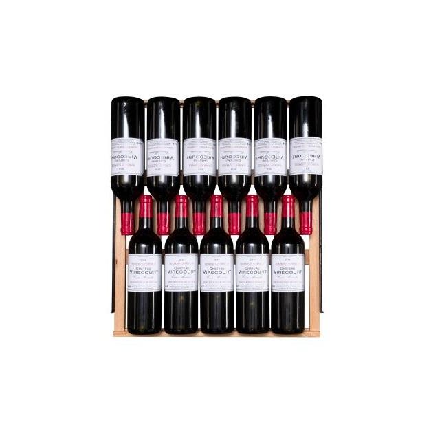 Armario climatizado para vinos Vinobox 168GC 2T color negro - bandeja con vinos