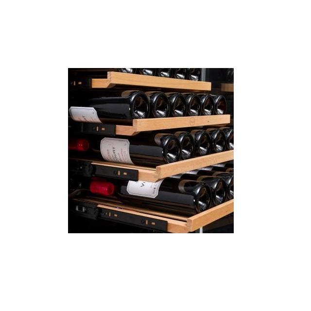 Armario climatizado para vinos Vinobox 168GC 2T color negro - bandejas extraibles
