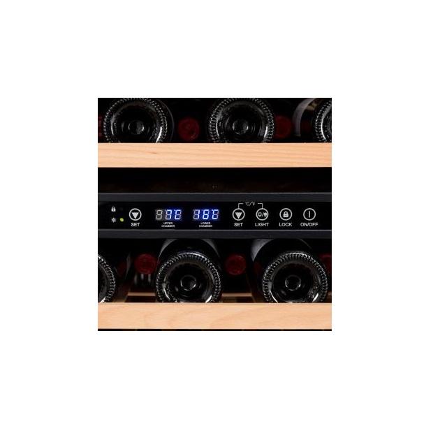 Armario climatizado para vinos Vinobox 168GC 2T color negro - panel digital