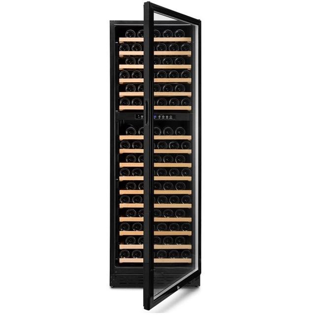 Armario climatizado para vinos Vinobox 168GC 2T color negro - puerta abierta