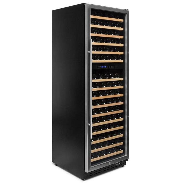 Armario climatizado para vinos Vinobox 168GC 2T inox - de lado