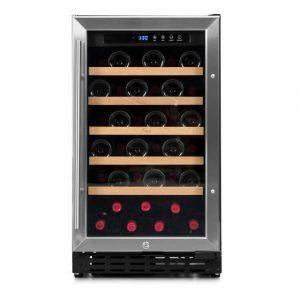Armario climatizado para vinos Vinobox 40GC 1T inox - de frente