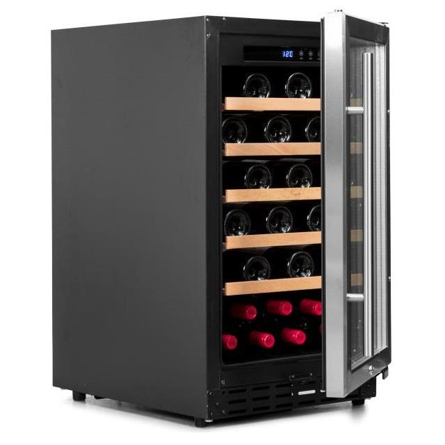 Armario climatizado para vinos Vinobox 40GC 1T inox - de lado puerta abierta