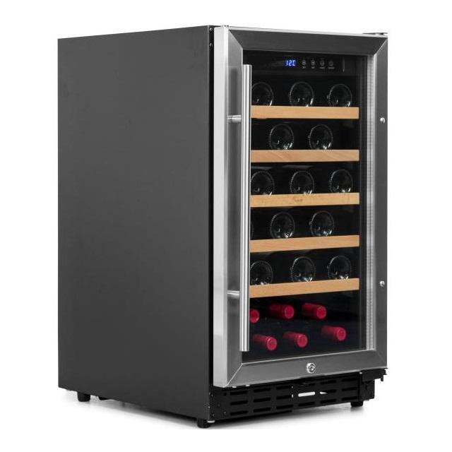 Armario climatizado para vinos Vinobox 40GC 1T inox - de lado