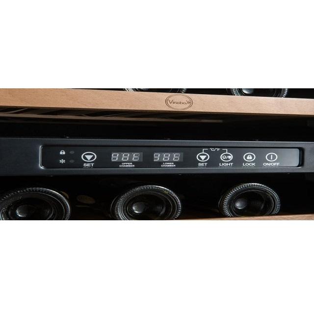 Armario climatizado para vinos Vinobox 40GC 2T color negro - display