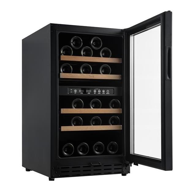 Armario climatizado para vinos Vinobox 40GC 2T color negro - puerta abierta