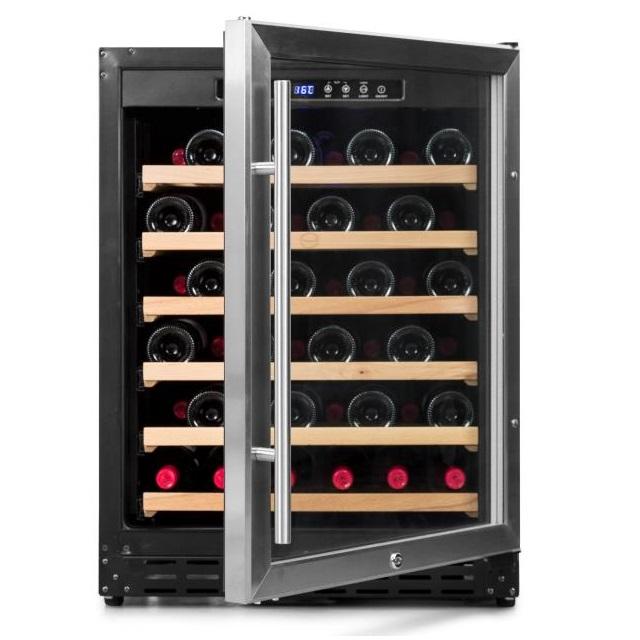Armario climatizado para vinos Vinobox 50GC 1T inox - de frente puerta abierta