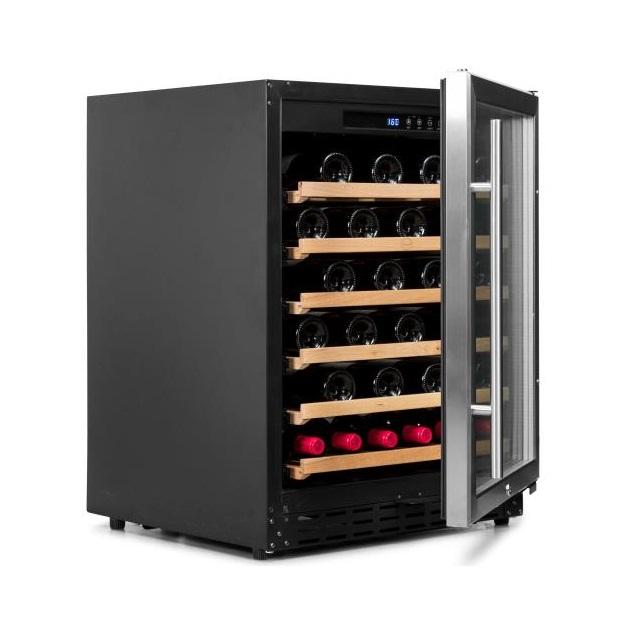 Armario climatizado para vinos Vinobox 50GC 1T inox - de lado puertaabierta