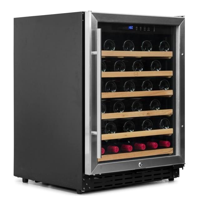 Armario climatizado para vinos Vinobox 50GC 1T inox - de lado