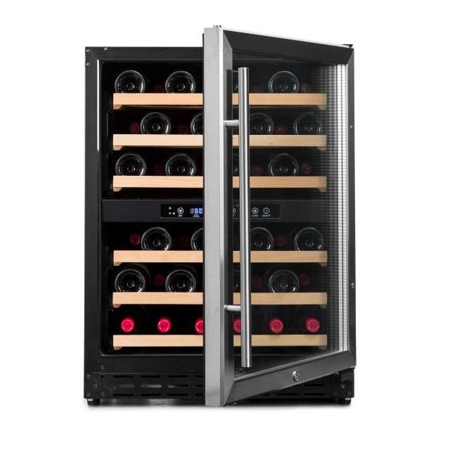 Armario climatizado para vinos Vinobox 50GC 2T inox de frente puerta abierta