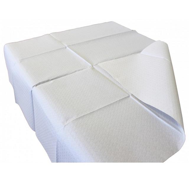 Mantel de papel color blanco