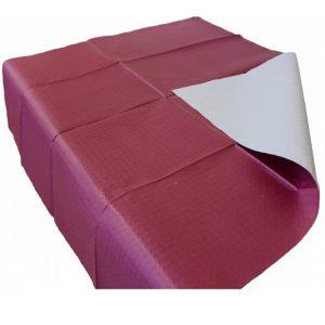 Mantel de papel color burdeos