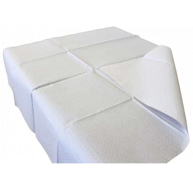 Mantel económico de papel color blanco