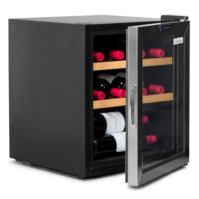Nevera para vinos económica - Vinobox 12GC puerta abierta