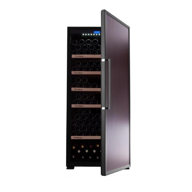 Nevera para vinos económica - Vinobox 300PC - de frente puerta abierta