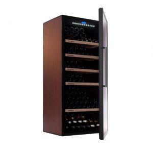 Nevera para vinos económica - Vinobox 300PC - de lado puerta abierta