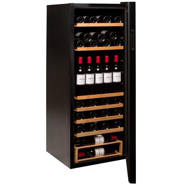 Nevera para vinos económica - Vinobox 96PRO - de lado puerta abierta