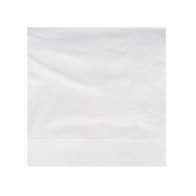 Servilletas de papel blancas de 1 capa para hostelería