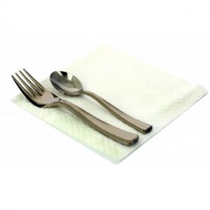 Servilletas de papel blancas de 2 capas para hostelería