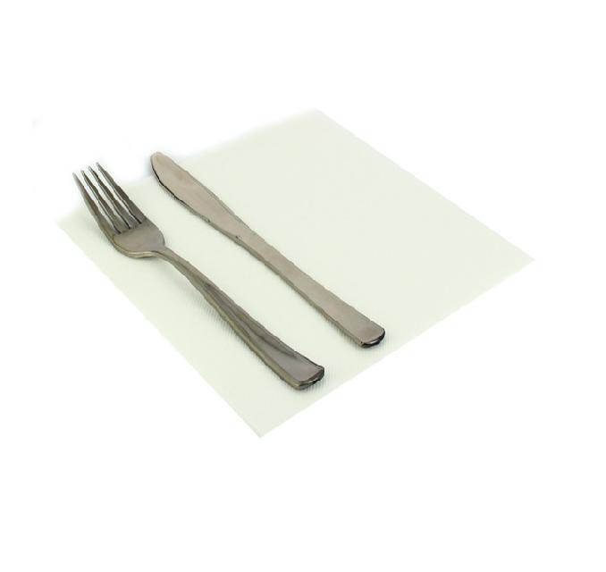 Servilletas de papel blancas punta punta para hostelera