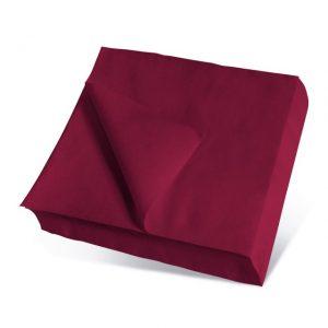 Servilletas de papel color burdeos 20x20