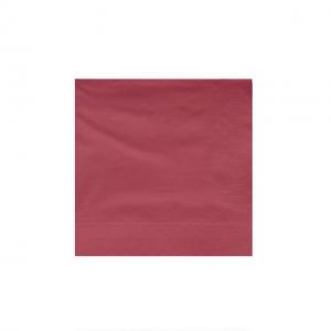 Servilletas de papel color burdeos