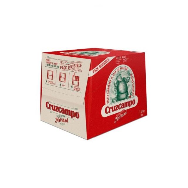 Cerveza CruzCampo Edición Limitada Navidad - Caja 12 botellas