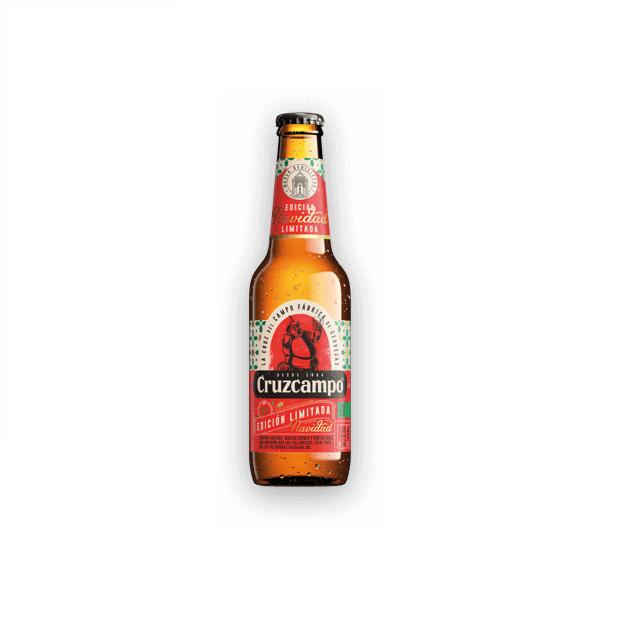 Cerveza CruzCampo Edicin Limitada Navidad botella de 33 cl