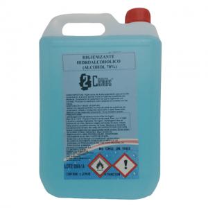 Higienizante hidroalcohólico 5l - Desinfectante sin lejía