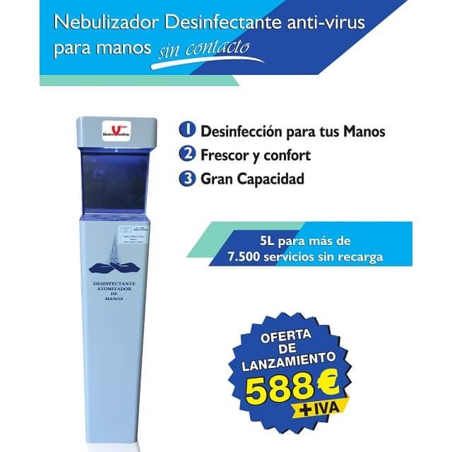 Nebulizador desinfectante de manos anti-virus sin contacto - oferta de lanzamiento