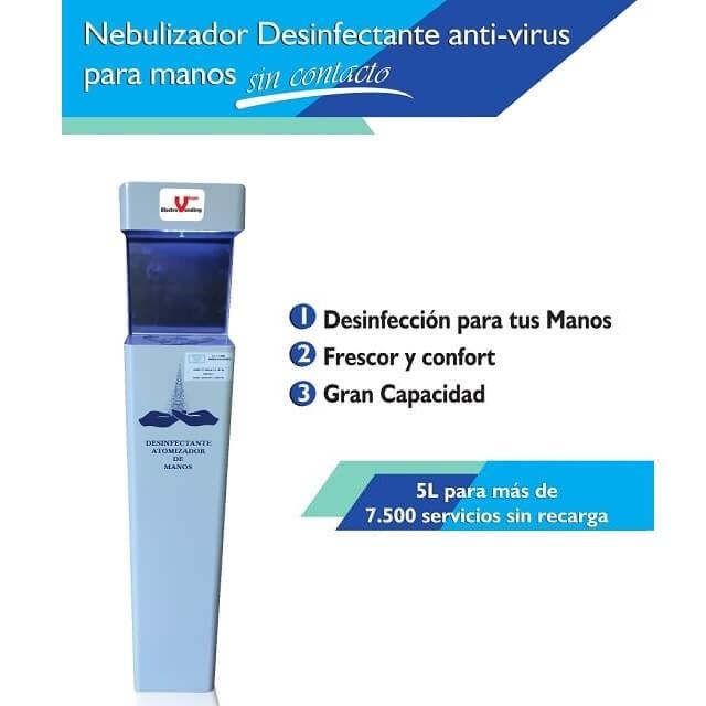 Nebulizador desinfectante de manos anti-virus sin contacto