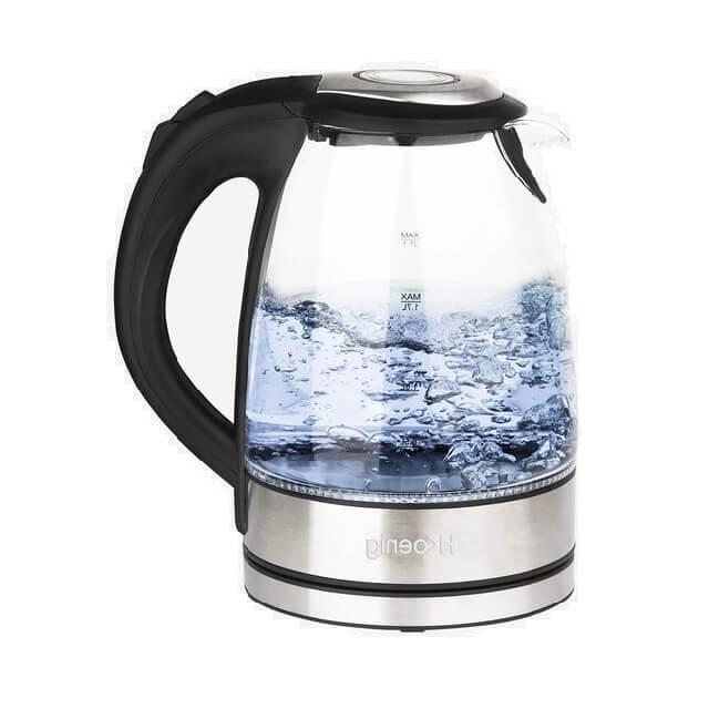 Hervidor de agua eléctrico de cristal con luces led 1,7 litros