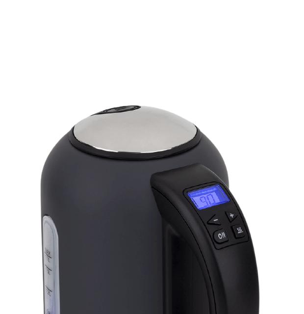 Calentador de agua eléctrico de acero inoxidable 1,7 litros - display