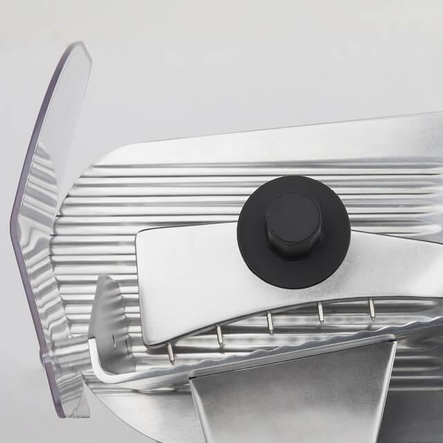 Cortadora de fiambre profesional con afilador de cuchillas integrado