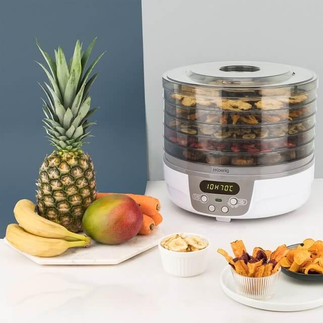 Deshidratador de alimentos para desecar frutas y verduras HKoenig