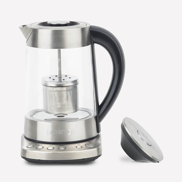Infusor de té con temperatura ajustable y capacidad de 1,7 litros