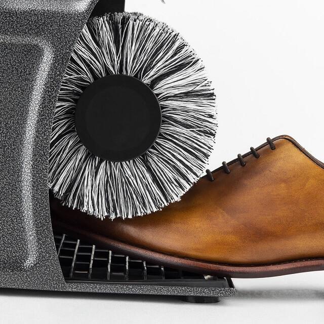 Limpiador de zapatos eléctrico con 2 cepillos de pulido - un cepillo de limpieza