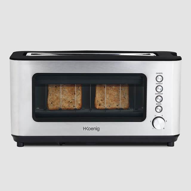 Tostadora de pan de acero inoxidable