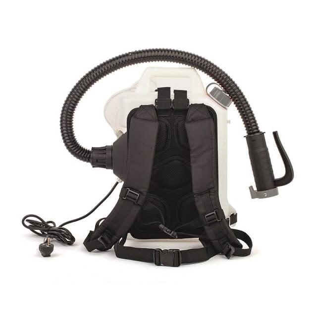 Pulverizador mochila para la desinfección antivirus con respaldo acolchado