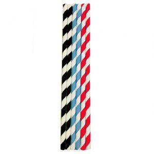 Pajitas de papel colores surtidos